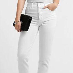 Express Super High-Waisted Button Mom Jeans